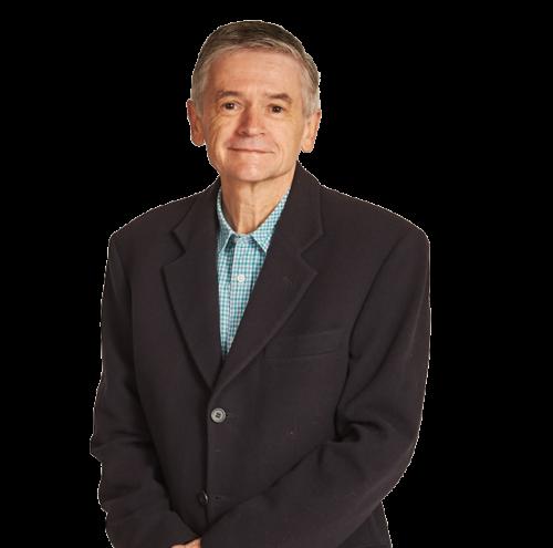 Older man in a suit jacket