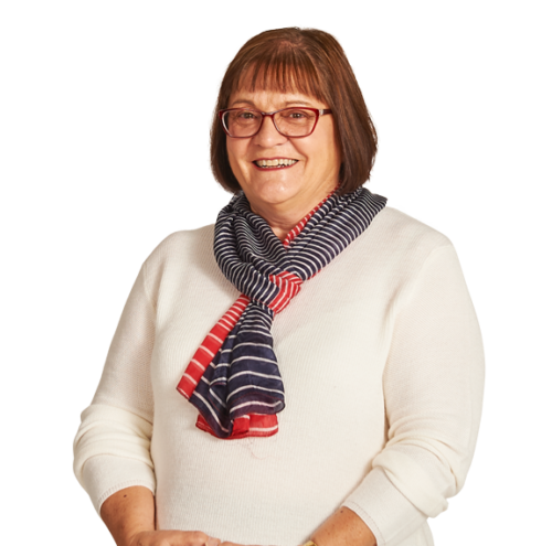 Mature lady with glasses and scarf